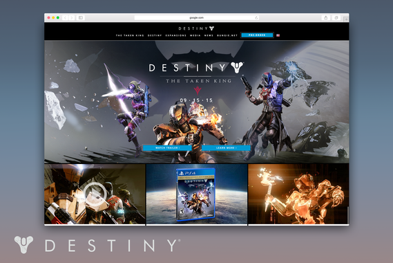 Destiny The Game Website Refresh