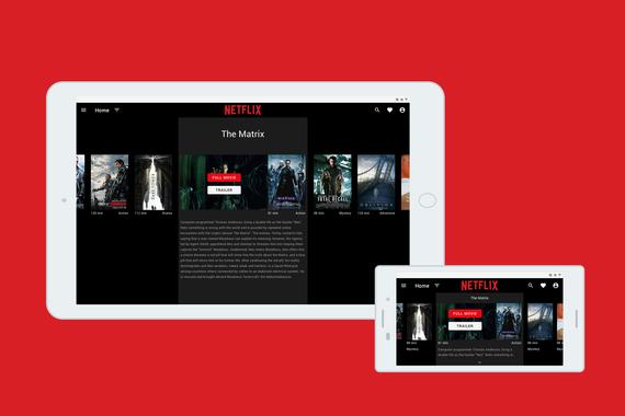 Netflix Responsive UI Redesign Concept