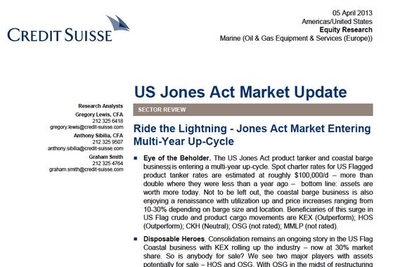 US Jones Act Update