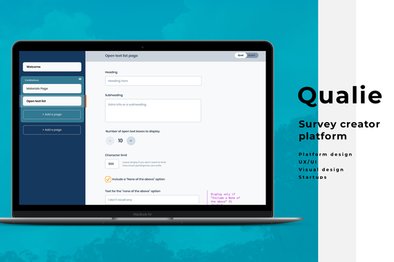 Qualie | Survey Creator Platform