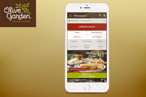 Olive Garden Mobile Experience