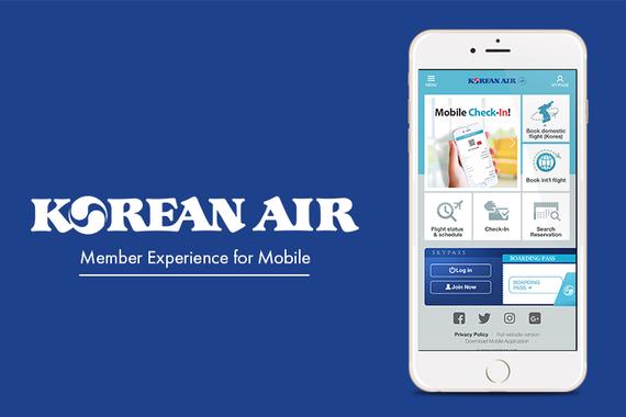 Korean Air Member Experience for Mobile