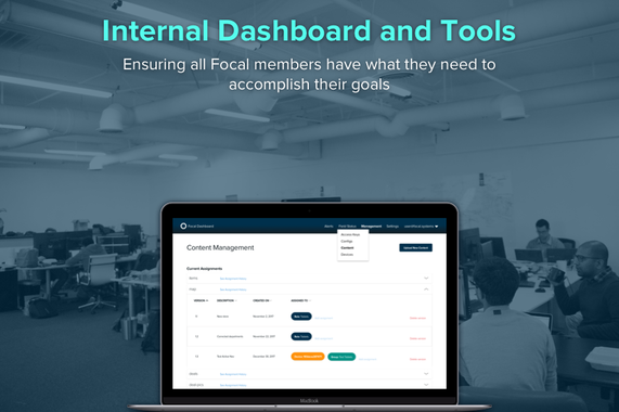 Internal Dashboard and Tools
