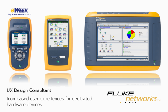 Fluke Networks Dedicated Hardware App and Icon Design