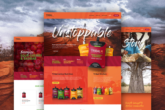 eCommerce Website Design for Sports Nutrition Startup