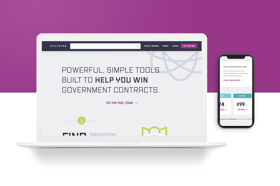 GovTribe Website and Dashboard