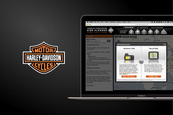 Harley-Davidson Ride Planner Web App