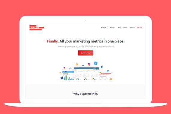 Design System and Website Design for Supermetrics