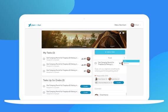 Responsive Web App for PlanTheFun