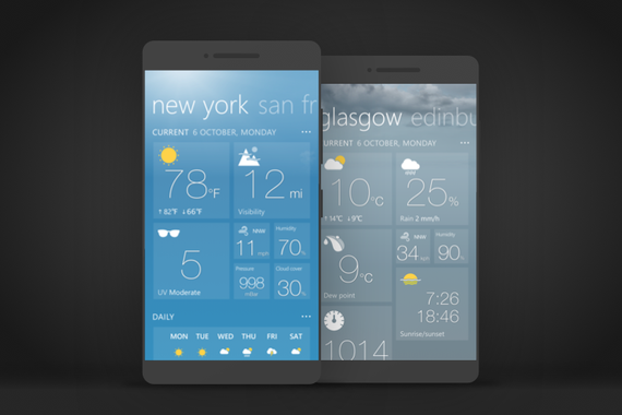 Redesigning the #1 Weather App for Windows Phone