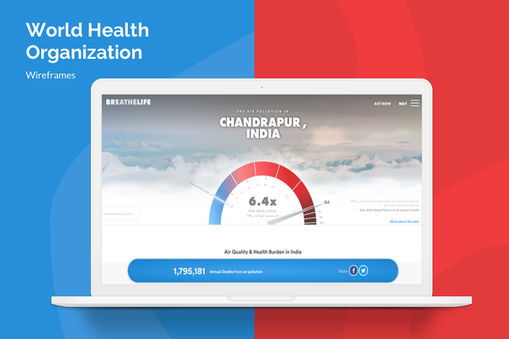 World Health Organization Wireframes