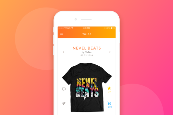 T-shirts App Redesign