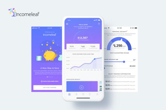 Incomeleaf | UI/UX for a Mobile App