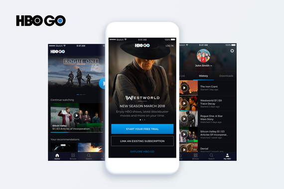 HBO GO 2.0 | UI/UX Redesign and Animations for a Mobile App