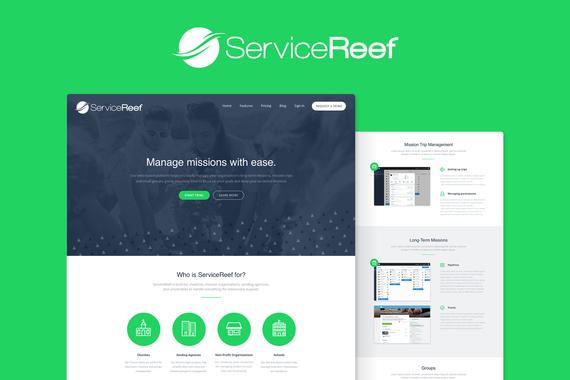 ServiceReef Landing Page