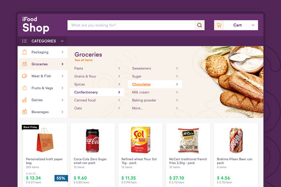 iFood Shop – Stock Supplier for Restaurant Owners