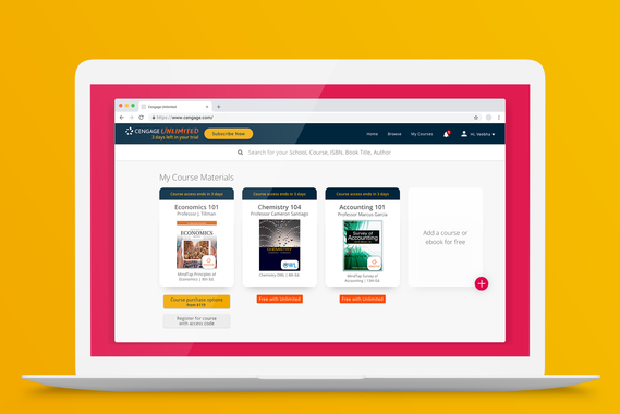 Cengage Unlimited e-Learning Service