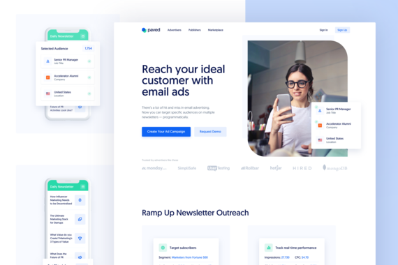 Paved – Email Advertising and Sponsored Content Marketplace