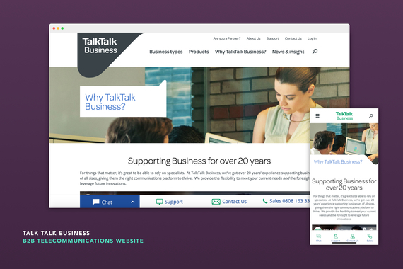 TalkTalk Business - B2B Website