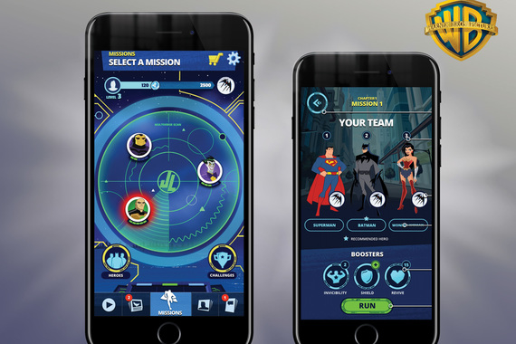 UX Design: Justice League Action Run Hub & Game App