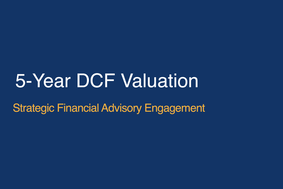 Five-year DCF Valuation for a Privately Held Business
