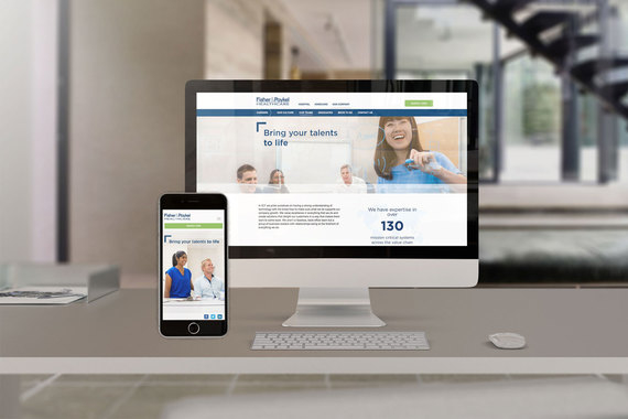 F&P Healthcare Career's Website