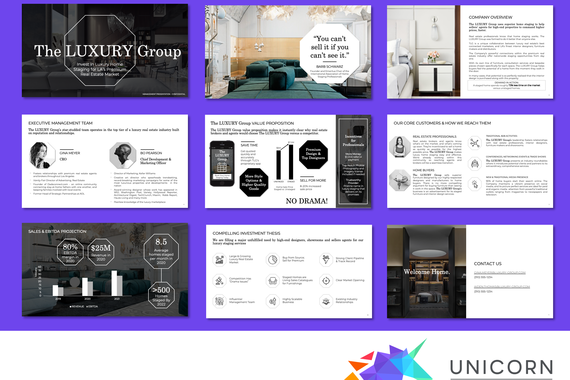 Luxury B2B Pitch Deck