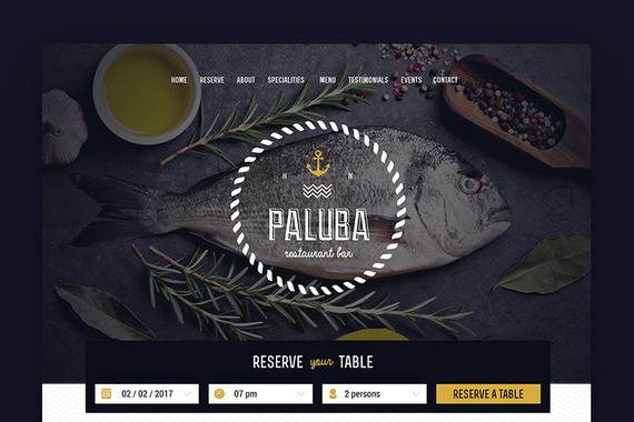 Paluba Restaurant: Branding and Landing Page Design