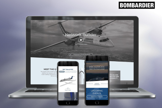 UX Design: Bombardier Commercial Aircraft Website Redesign