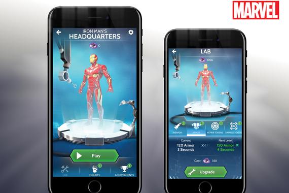 UX Design: Marvel Avengers Infinity War Hero Vision AR Mobile Game