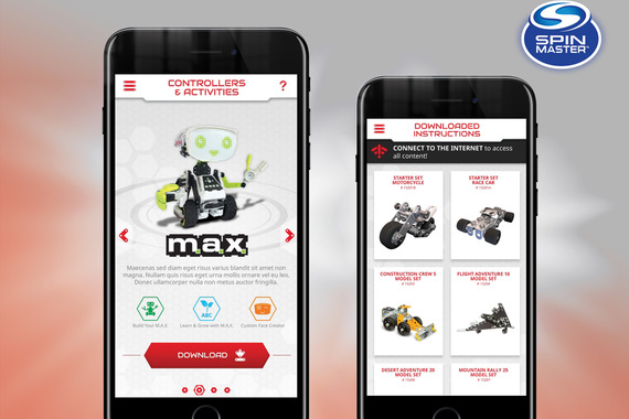 UX Design: Meccano Builder/Controller Hub App