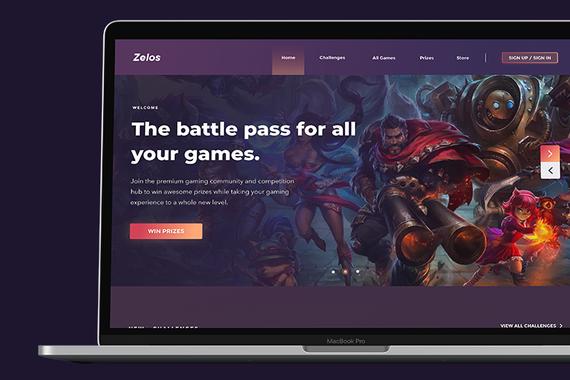 Zelos Gaming (Gaming Website)