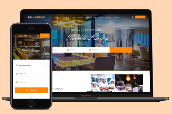 Transcorp Hotels (Responsive Web Dashboard Design for a Luxury Hotel Booking Platform)