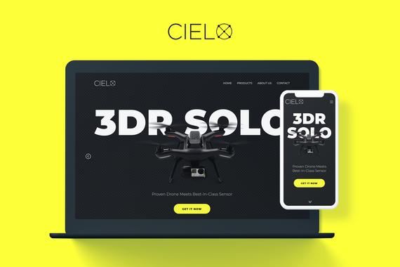 Cielo | Responsive Website for a Drone Retailer