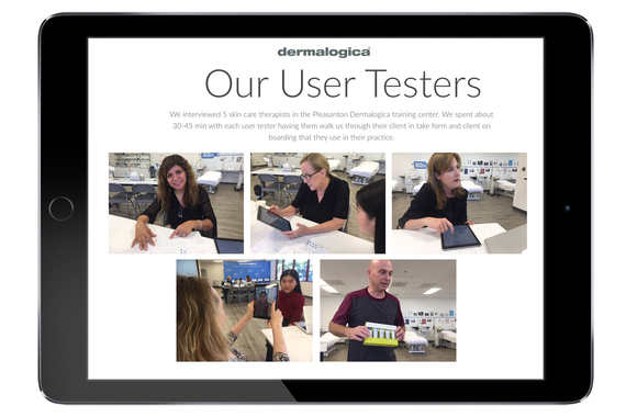 Usability Testing Sessions with Skincare Therapists