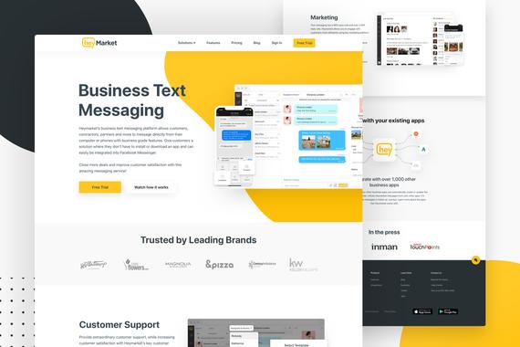 Heymarket Website Design and Design System