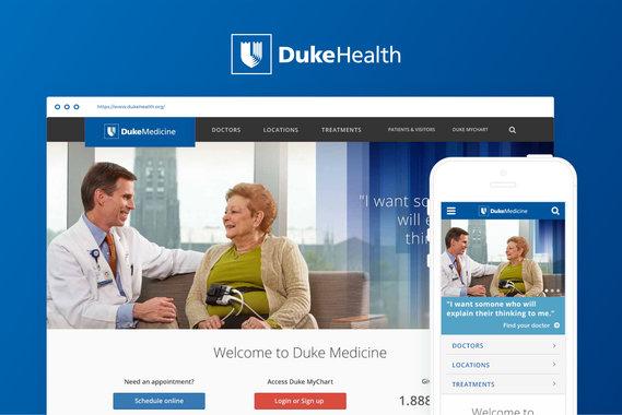 Duke Health Responsive Website