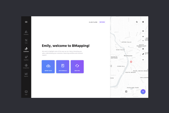 BMapping — Location-baed CRM for Local Businesses