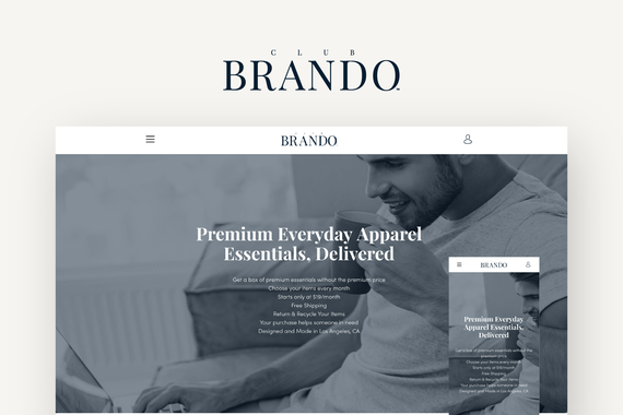 Club Brando - Clothing Subscription Service Platform