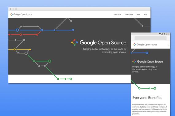 Google Open Source Responsive Site