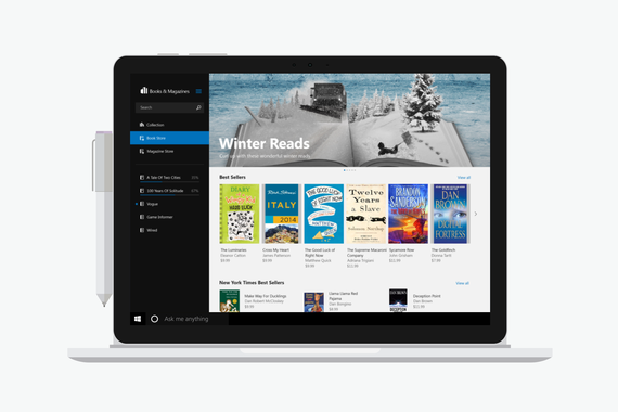 Responsive Newsstand App for Microsoft