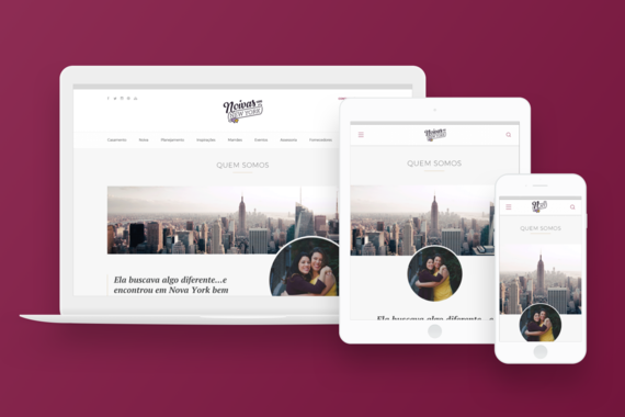 Noivas em New York Rebrand and Site Design