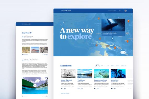 OpenExplorer | UI, UX, Web Design
