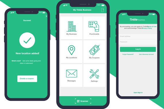 Tinble Business iOS (via Toptal)