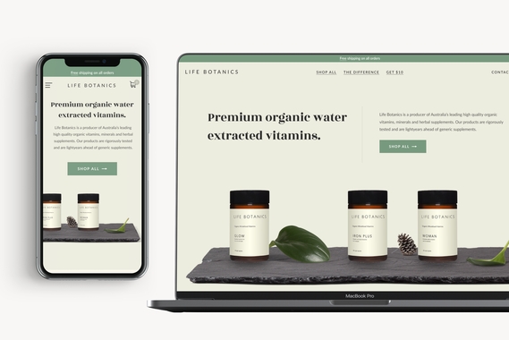 Responsive eCommerce Website for a Premium Vitamin Brand
