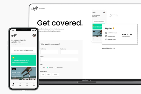 Responsive Website and App Concept for an Insurtech Company