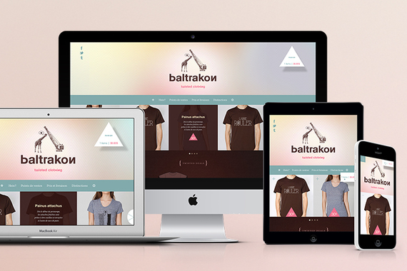 Baltrakon — Clothing Company Website