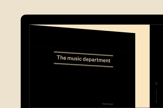 The Music Departement — Music Production Website