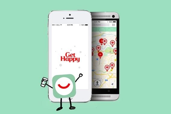 """""""Get Happy"""" App by Coca Cola"""