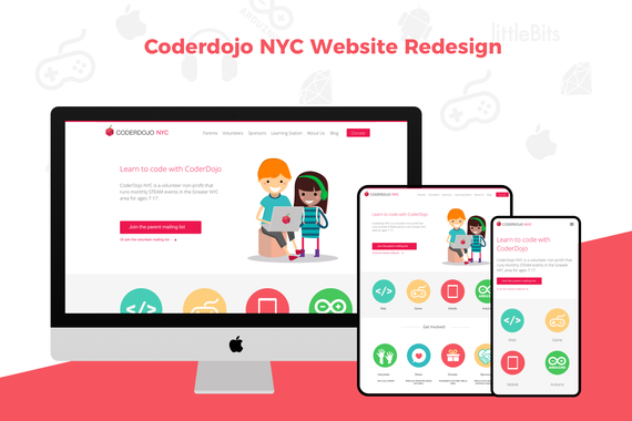 Coderdojo Website Redesign